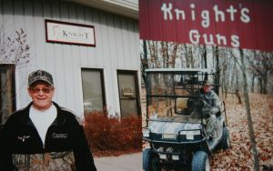 Tony Knight, the founder of Knight Rifles, started his business is a small shop beside his house.