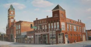 Painting of the Terrell County Courthouse in Dawson, Georgia. This painting is  hanging in the Chamber of Commerce office.