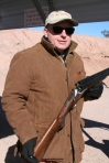 Mr. Rino Chiappa showing off his 3-barreled shotgun at Range Day.