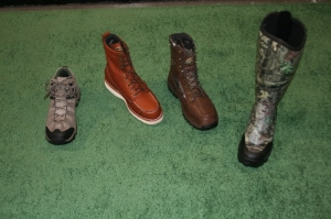 A few of the many styles of Irish Setter boots offered to hunters.