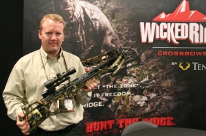 Randy Wood holds the new shorter, faster and lighter, Stealth SX 10-Point crossbow.